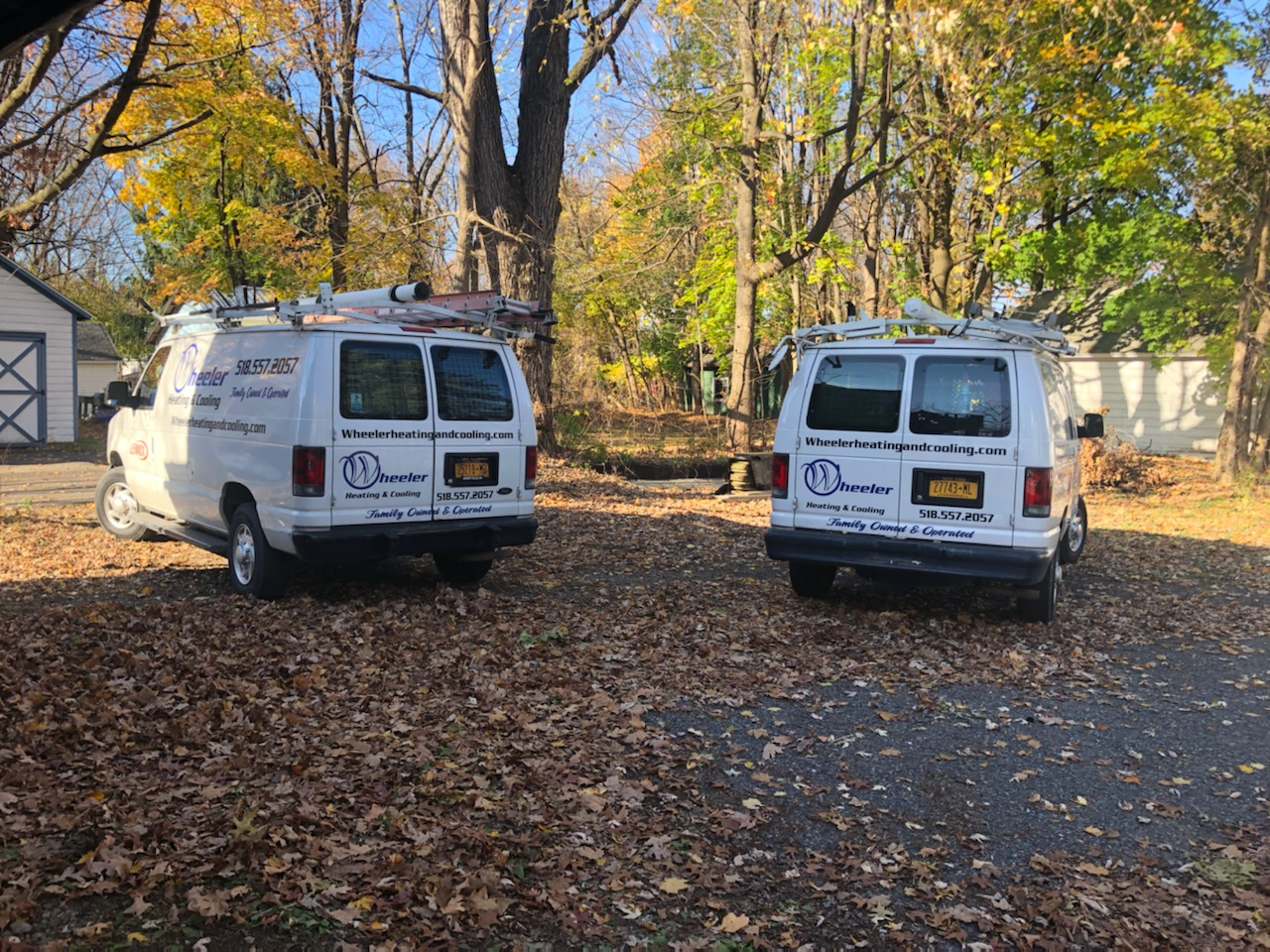 Two Wheeler Heating and Cooling HVAC Services vans - Schenectady, NY